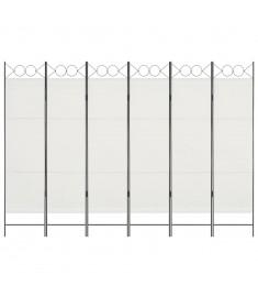 Διαχωριστικό Δωματίου με 6 Πάνελ Λευκό 240 x 180 εκ.  280243