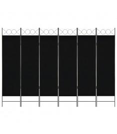 Διαχωριστικό Δωματίου με 6 Πάνελ Μαύρο 240 x 180 εκ.  280246
