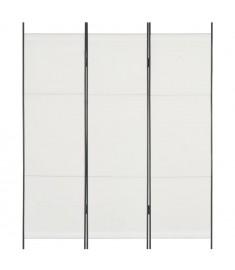 Διαχωριστικό Δωματίου με 3 Πάνελ Λευκό 150 x 180 εκ.  280247
