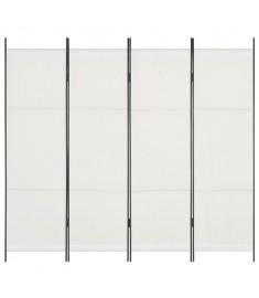 Διαχωριστικό Δωματίου με 4 Πάνελ Λευκό 200 x 180 εκ.  280251