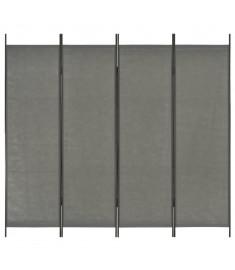 Διαχωριστικό Δωματίου με 4 Πάνελ Ανθρακί 200 x 180 εκ.  280253