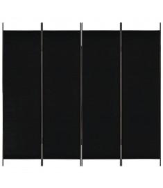 Διαχωριστικό Δωματίου με 4 Πάνελ Μαύρο 200 x 180 εκ.  280254