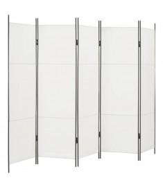 Διαχωριστικό Δωματίου με 5 Πάνελ Λευκό 250 x 180 εκ.  280255