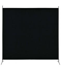 Διαχωριστικό Δωματίου με 1 Πάνελ Μαύρο 175 x 180 εκ.  280266