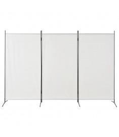 Διαχωριστικό Δωματίου με 3 Πάνελ Λευκό 260 x 180 εκ.  280267
