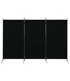 Διαχωριστικό Δωματίου με 3 Πάνελ Μαύρο 260 x 180 εκ.  280270
