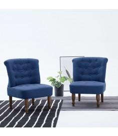 Πολυθρόνα Γαλλικού Στιλ Μπλε Υφασμάτινη  282125