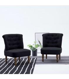 Πολυθρόνα Γαλλικού Στιλ Μαύρη Υφασμάτινη  282127