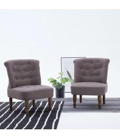 Πολυθρόνα Γαλλικού Στιλ Χρώμα Taupe Υφασμάτινη  282130