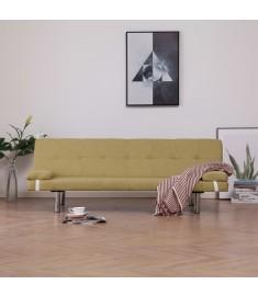 Καναπές - Κρεβάτι με Δύο Μαξιλάρια Πράσινος από Πολυεστέρα  282188