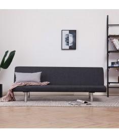 Καναπές - Κρεβάτι Σκούρο Γκρι από Πολυεστέρα   282193