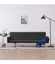 Καναπές - Κρεβάτι με Μπράτσα Σκούρο Γκρι από Πολυεστέρα  282218