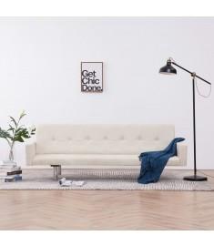 Καναπές - Κρεβάτι με Μπράτσα Κρεμ από Πολυεστέρα  282219