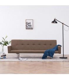 Καναπές - Κρεβάτι με Μπράτσα Καφέ από Πολυεστέρα  282220