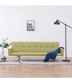 Καναπές - Κρεβάτι με Μπράτσα Πράσινος από Πολυεστέρα  282222