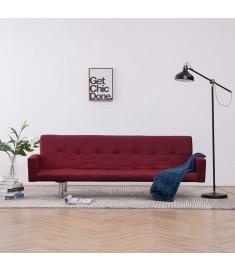 Καναπές - Κρεβάτι με Μπράτσα Μπορντό από Πολυεστέρα  282225