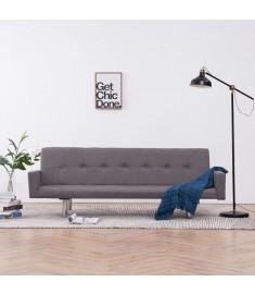 Καναπές - Κρεβάτι με Μπράτσα Χρώμα Taupe από Πολυεστέρα  282226