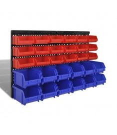 Πλαστικά σκαφάκια αποθήκευσης  Σετ 30 τμχ Μπλε & κόκκινο  140761
