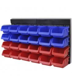 Σύστημα Οργάνωσης Εργαλείων Επιτοίχιο 2 τεμ. Μπλε & Κόκκινο  141401