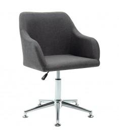 Καρέκλα Τραπεζαρίας Περιστρεφόμενη Σκούρο Γκρι Υφασμάτινη  283470