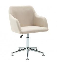 Καρέκλα Τραπεζαρίας Περιστρεφόμενη Κρεμ Υφασμάτινη  283471