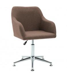 Καρέκλα Τραπεζαρίας Περιστρεφόμενη Καφέ Υφασμάτινη  283472