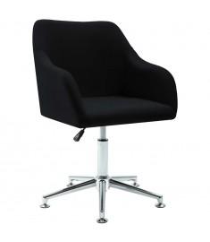 Καρέκλα Τραπεζαρίας Περιστρεφόμενη Μαύρη Υφασμάτινη  283475