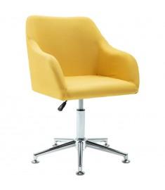 Καρέκλα Τραπεζαρίας Περιστρεφόμενη Κίτρινη Υφασμάτινη  283476
