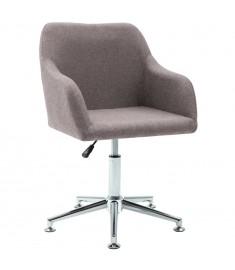 Καρέκλα Τραπεζαρίας Περιστρεφόμενη Χρώμα Taupe Υφασμάτινη  283478