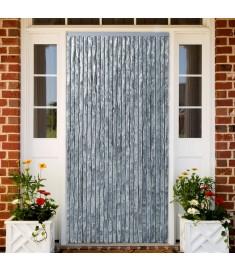 Σήτα - Κουρτίνα Πόρτας Λευκό / Γκρι 100 x 220 εκ. από Σενίλ  284281