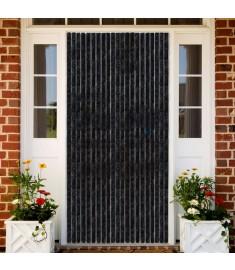 Σήτα - Κουρτίνα Πόρτας Ανθρακί 90 x 220 εκ. από Σενίλ  284289