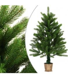 Χριστουγεννιάτικο Δέντρο Τεχνητό Πράσινο 90 εκ. με Γλάστρα  284327